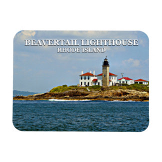 De Vuurtoren van Beavertail, Rhode Island Magneet