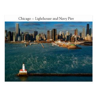 De Vuurtoren van Chicago Briefkaart