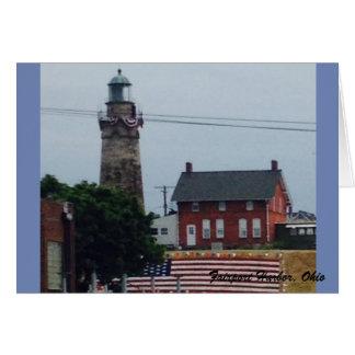 De Vuurtoren van de Haven van Fairport met het Briefkaarten 0