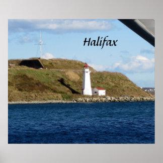 De Vuurtoren van Halifax Poster