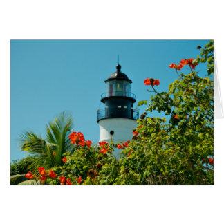 De Vuurtoren van Key West, de Lege Kaart van