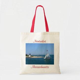 De Vuurtoren van Massachusetts van Nantucket & het Draagtas