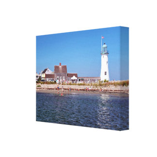 De Vuurtoren van Scituate, Massachusetts Canvas Print