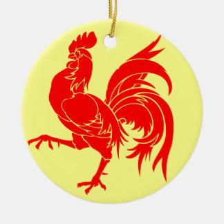 De Waalse Vlag (van België) - Drapea Walon Rond Keramisch Ornament