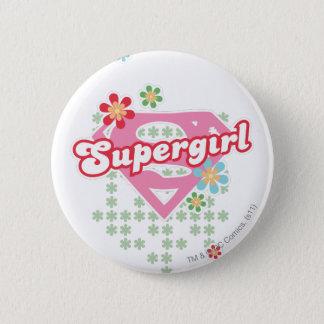 De Waanzin van de Bloem van Supergirl Ronde Button 5,7 Cm