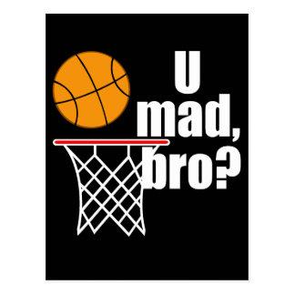 De Waanzin van het basketbal Briefkaart