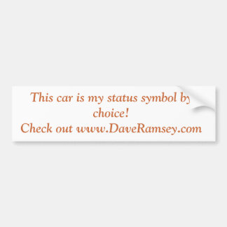 De waardeloze Sticker van de Bumper van de Auto