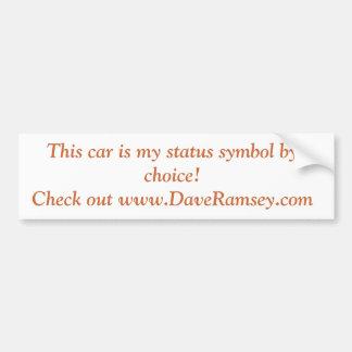 De waardeloze Sticker van de Bumper van de Auto Bumpersticker