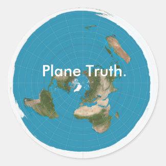 """De """"waarheid van het vliegtuig."""" Klassieke Ronde Ronde Sticker"""