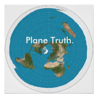 """De """"waarheid van het vliegtuig """" poster"""