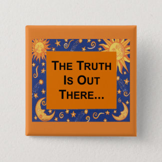 De waarheid vierkante button 5,1 cm