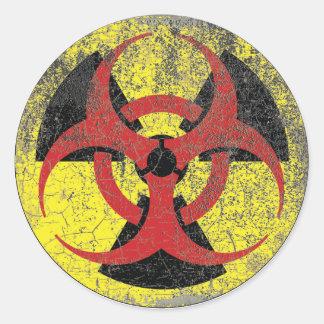 De Waarschuwing van de Straling van Biohazard Ronde Stickers