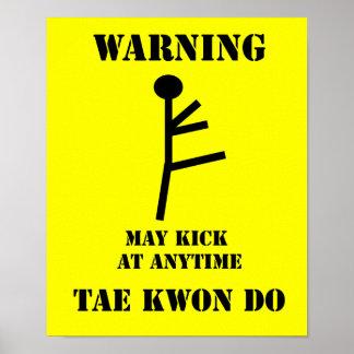 De Waarschuwing van Taekwondo van vechtsporten Poster