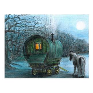 De wagen van het maanlicht briefkaart