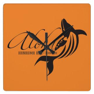 De Walvis Aloha van Hawaï Vierkante Klok