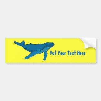 De Walvis van de gebochelde Bumpersticker