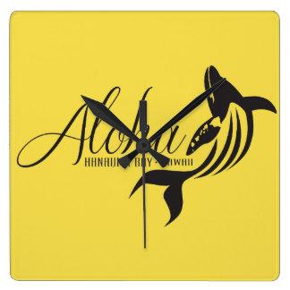 De Walvis van Hawaï van Aloha Vierkante Klok