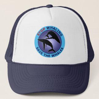De Walvisvangst van het einde bewaart de Walvissen Trucker Pet