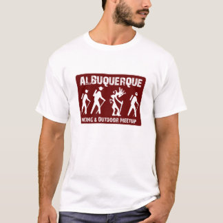 De Wandelaar die van Kokopelli voor ABQ Meetup T Shirt
