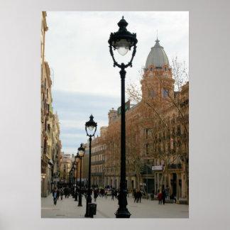 De Wandeling van Barcelona - Portal del Angel Poster