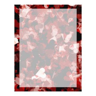 De ware Emotie van de Harten van de Liefde Rode Flyer 21,6 X 27,9 Cm