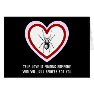 De ware Liefde doodt Spinnen - Grappig Valentijn Kaart