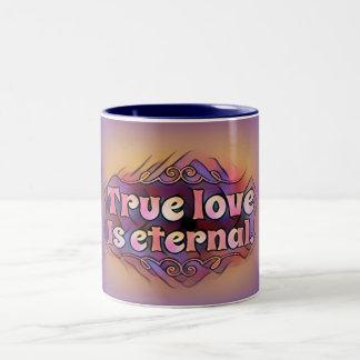 """De """"ware Liefde is Eeuwig"""" op de Kleurrijke Mok"""