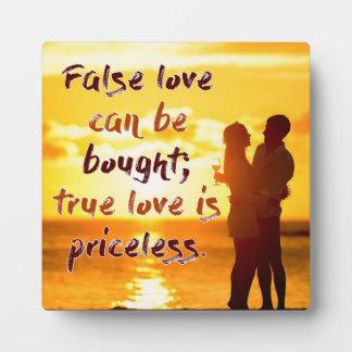 De ware Liefde is Onbetaalbaar Fotoplaat