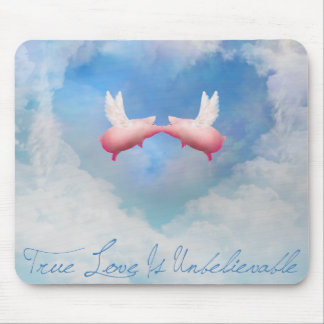 De ware Liefde ongelooflijk-vliegt het Kussen van Muismatten