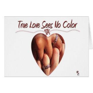 De ware Liefde ziet Geen kaart van de Kleur