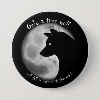 De ware Speld van de Wolf Ronde Button 7,6 Cm