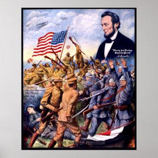 De Ware Zonen van Abraham Lincoln van Vrijheid Poster