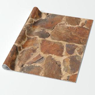 De Warme Gloed van de rustieke van de Steen van de Inpakpapier