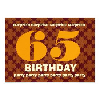 de Warme Tinten van de 65ste Verjaardag van de 12,7x17,8 Uitnodiging Kaart