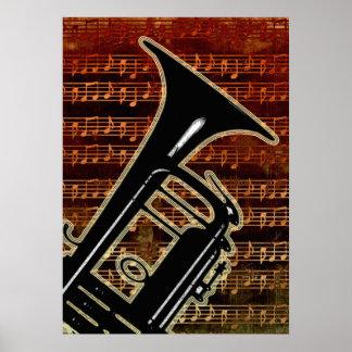 De warme Trompet ID280 van Tonen Poster