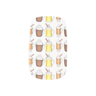 De warme Winter drink Spijkers van de Eierpunch Minx Nail Folie
