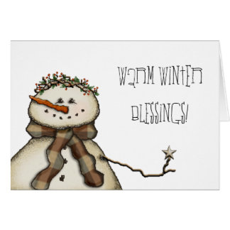 De warme Zegen van de Winter! Kaart