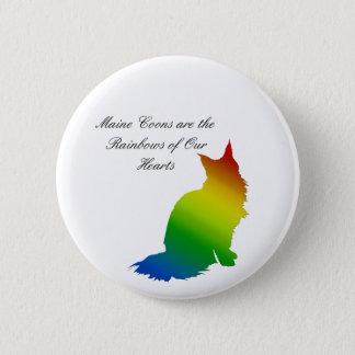 De Wasbeer van Maine van de regenboog Ronde Button 5,7 Cm