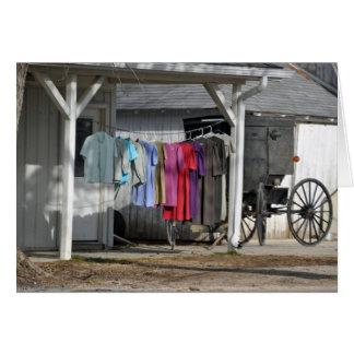 De Wasserij van de Winter van Amish Briefkaarten 0