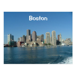 De Waterkant van Boston Briefkaart