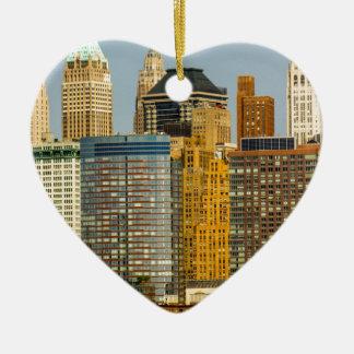 De Waterkant van New York Keramisch Hart Ornament