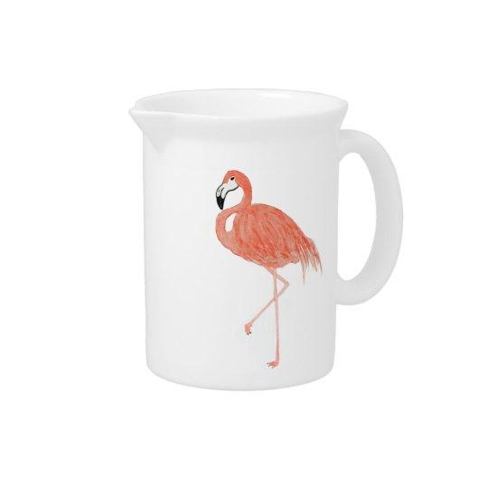 De Waterkruik van de Flamingo van de waterverf Pitcher