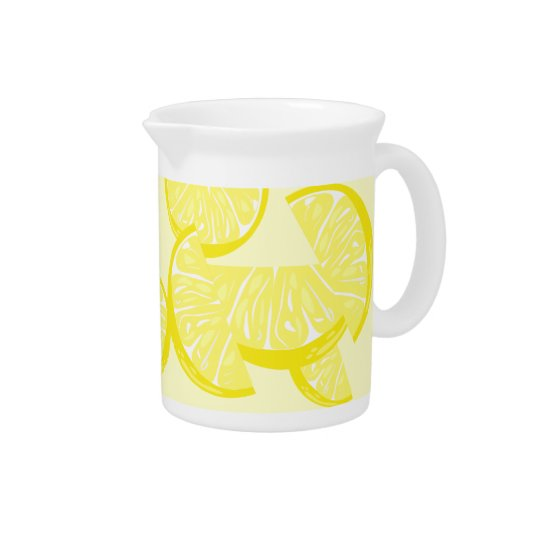 De Waterkruik van de Plak van de citroen Drank Pitchers