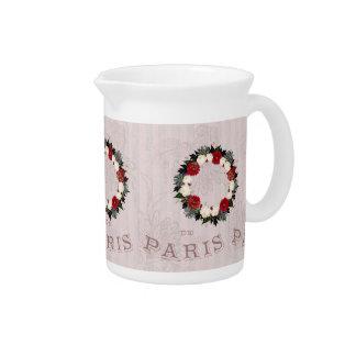 De Waterkruik van het Porselein van de Bloemen van Drink Pitcher