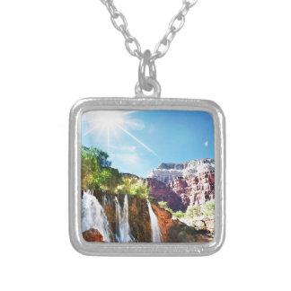 De Waterval van de berg Zilver Vergulden Ketting