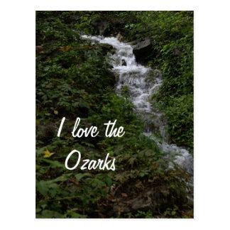 De Waterval van Missouri Ozark Briefkaart