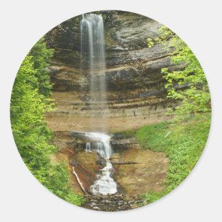 De Watervallen van Michigan Ronde Sticker