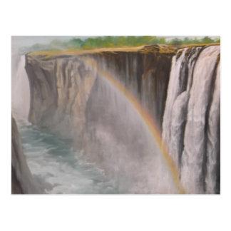De Watervallen van Victoria van het briefkaart