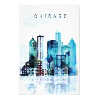 De waterverf van Chicago Foto Afdruk