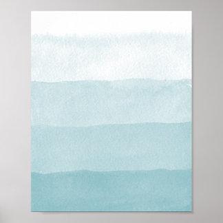 De Waterverf van Colorblock van de Gradiënt van Poster
